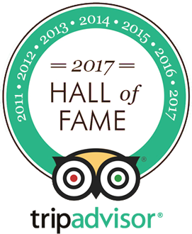 Tripadvisor Hall of Fame - Winner of Certificate of Excellence